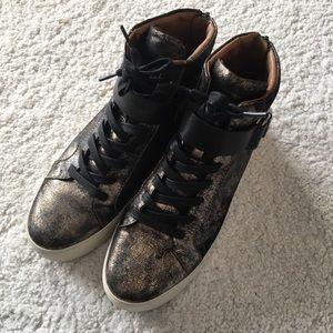 Frye metallic sneakers